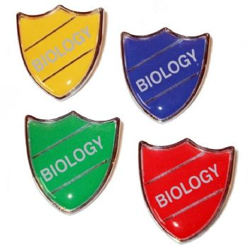 BIOLOGY shield badge